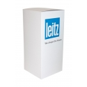 Podie af karton, hvid 30 x 30 x 100 cm (lxbxh)