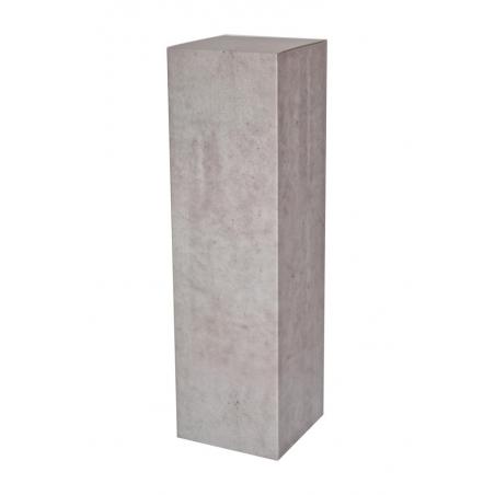 Podie af karton med beton look 28,5 x 28,5 x 100 cm (lxbxh)