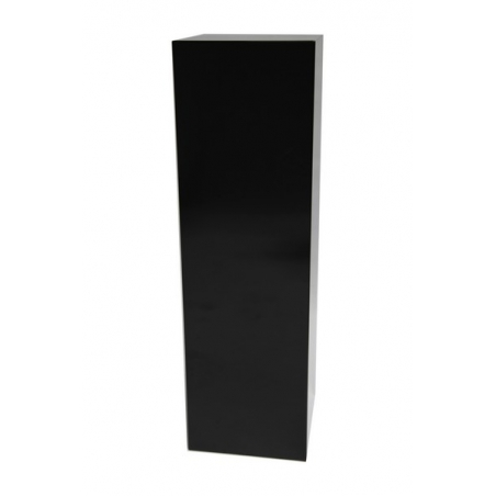 Solits podie sort højglans 30 x 30 x 100 cm