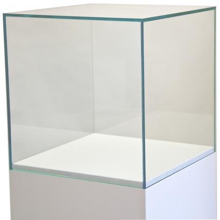 Montre af glas 30 x 30 x 30 cm