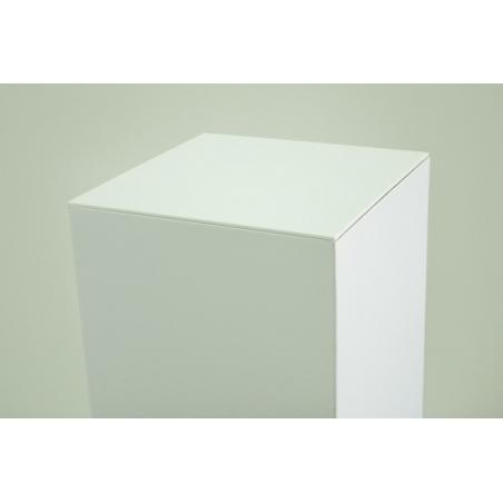 Topplade 4mm plexiglas hvid , 45,2x45,2 cm (til podie af karton)