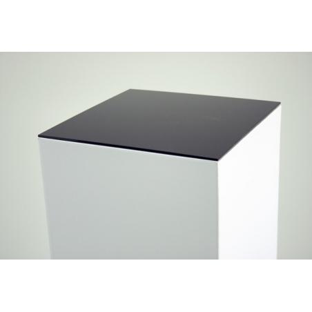 Topplade 4mm plexiglas sort , 30,2x30,2 cm (til podie af karton)