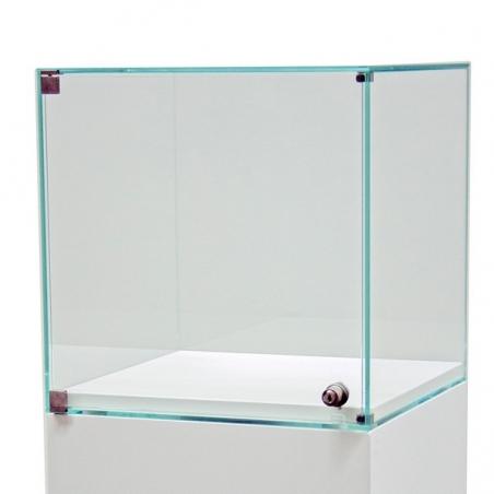 vitrine med dør 35 x 35 x 35 cm