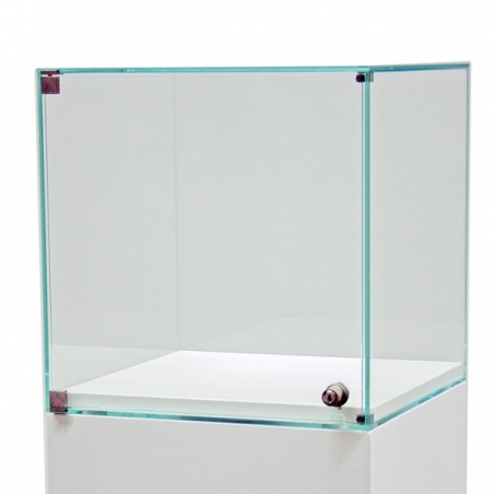vitrine med dør 30 x 30 x 30 cm