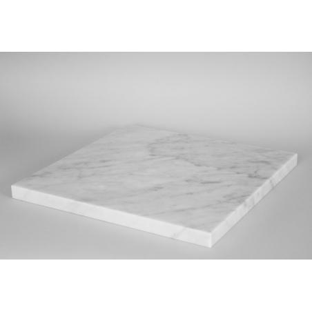 Top marmor hvid (Carrara, 20mm), 40 x 40 cm