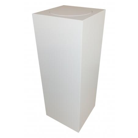 Podie med drejeskive, hvid 30 x 30 x 100 cm