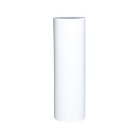 Rundt podie hvid, Ø 20 x 100 cm (h)