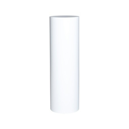 Rundt podie hvid, Ø 25 x 100 cm (h)