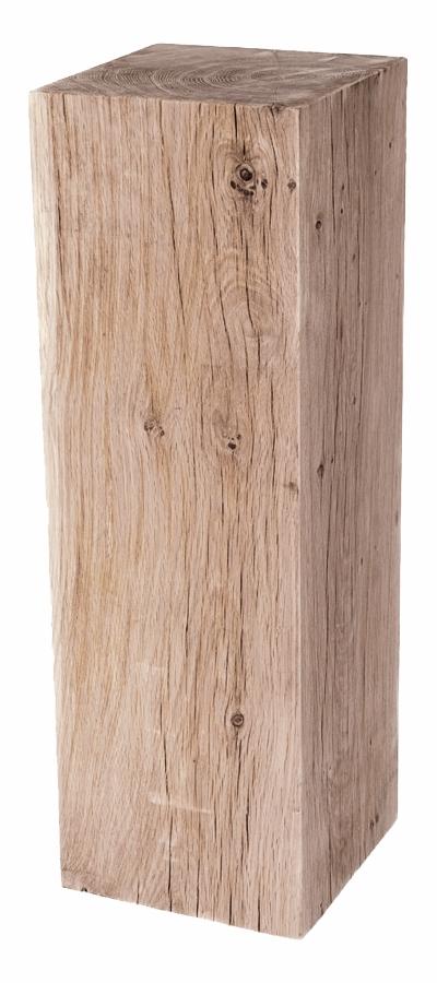 Podie af egetræ, slebet